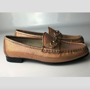 Gucci Horsebit Loafers Nizza Laser Salmone 37.5